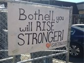 Bothell, you will rise stronger sign