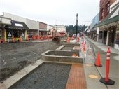 Roadway construction between 101st Ave NE and 102nd Ave NE