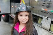 Girl in fire hat