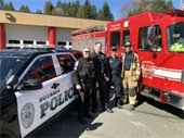 Police and firefighters