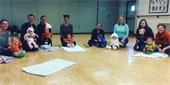 Parents and babies in class