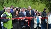 Ribbon-cutting at North Creek Forest