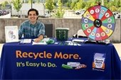 Recycling booth at Sustainamania event