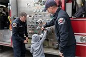 Child at fire engine