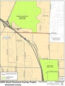 Map of 228th Street Pavement Overlay Project