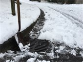 Storm drain in snow
