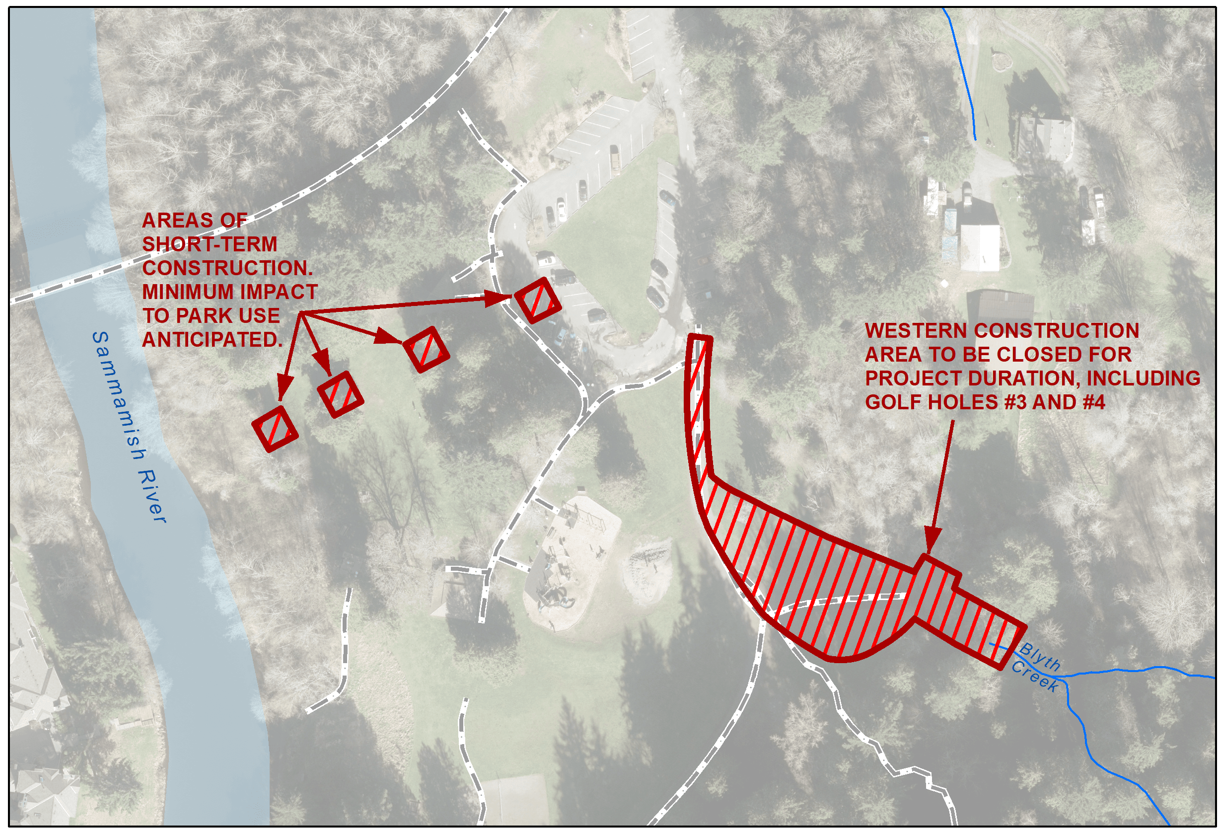 Image of the construction area and impacts