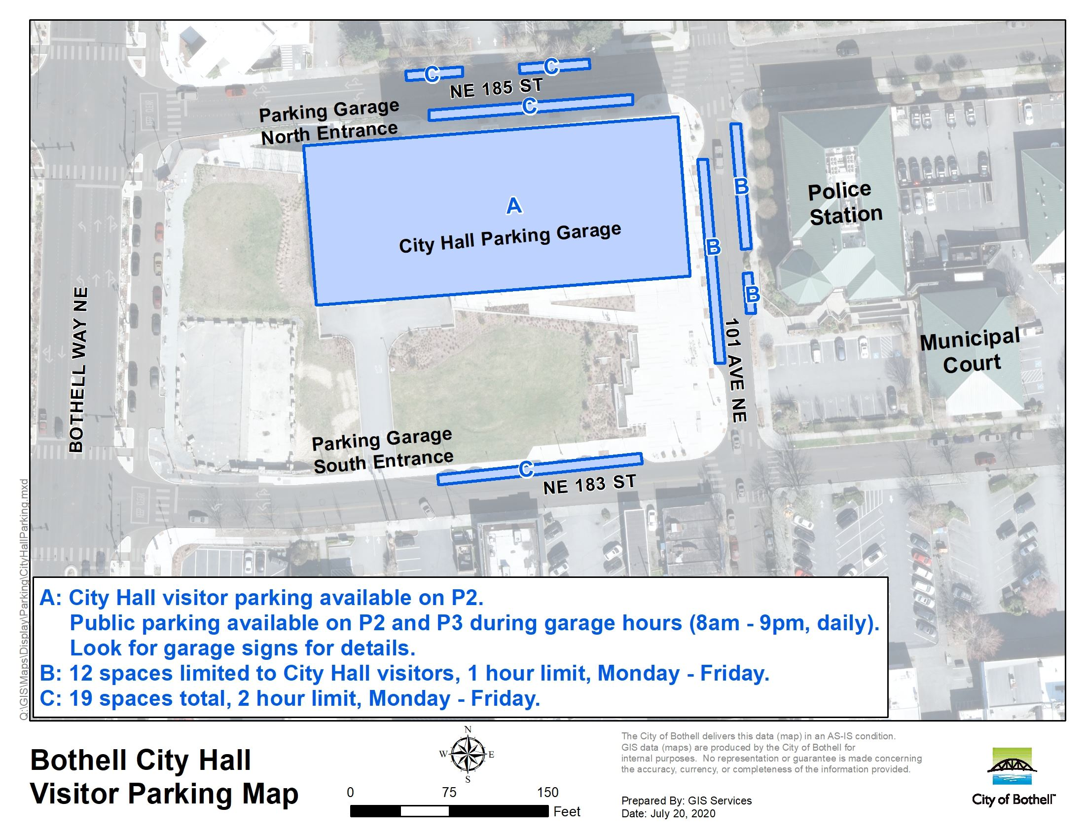 City Hall Parking Map