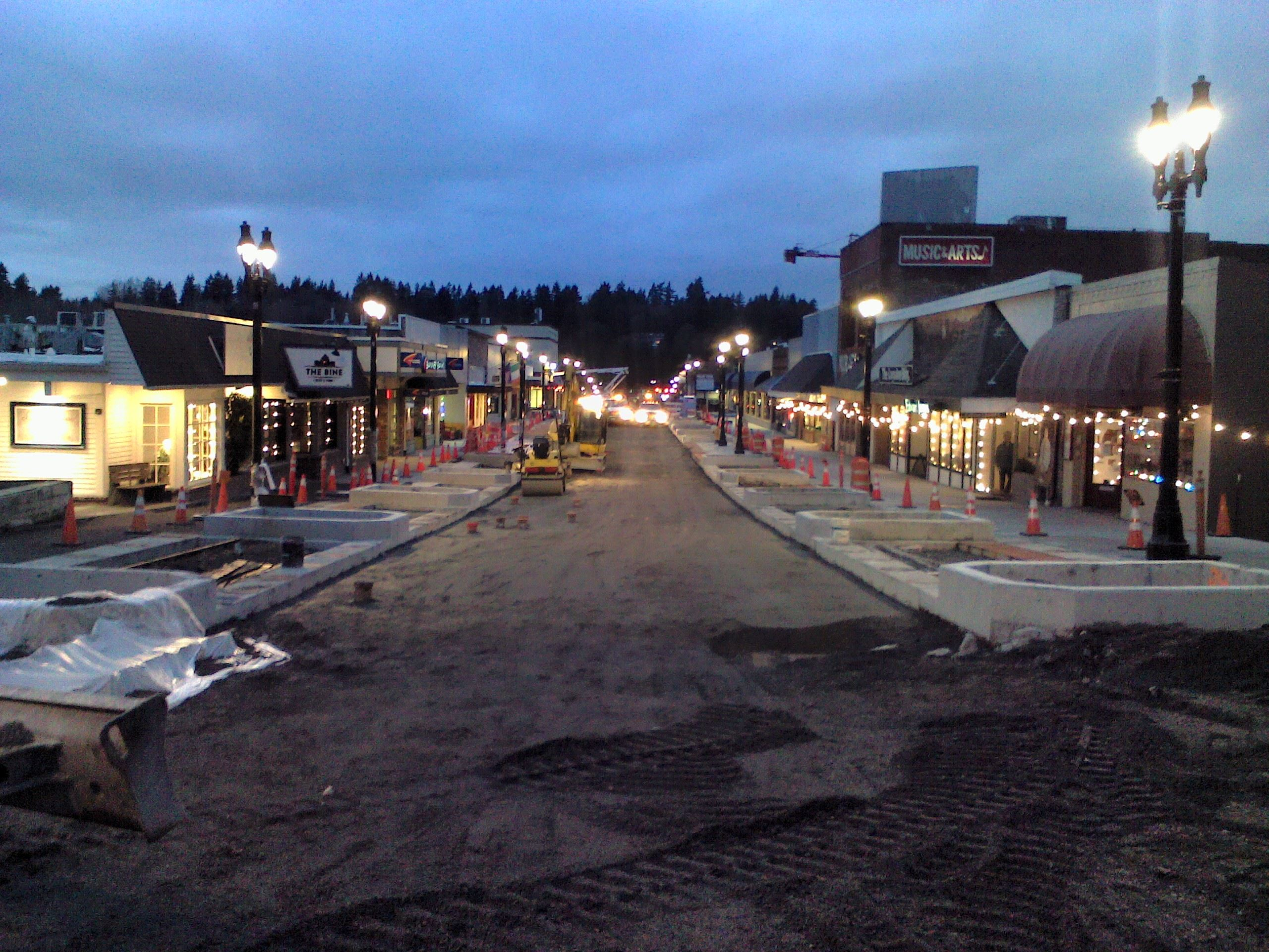 Night view of Main Street as of 2-01-18