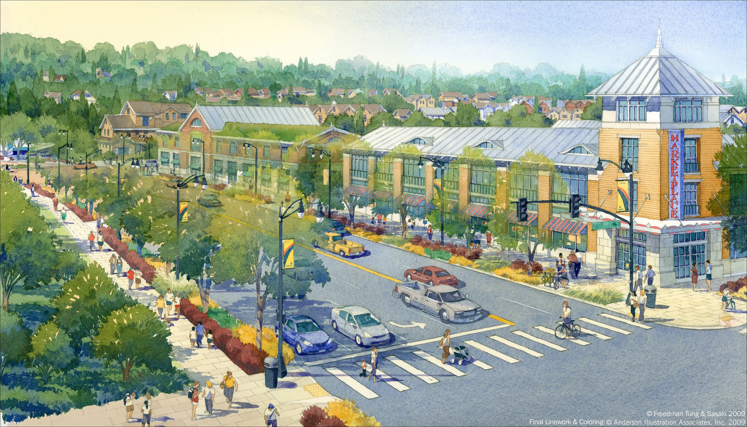 Rendering of Multiway Blvd