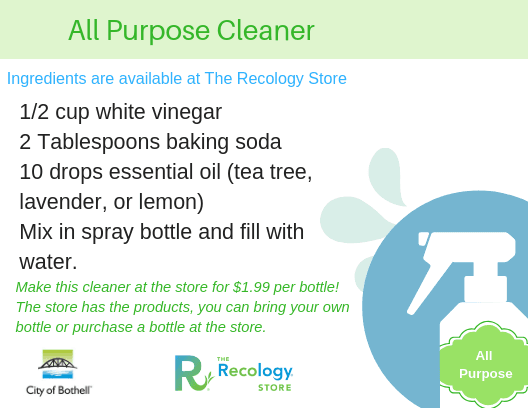 All purpose cleaner recipe card