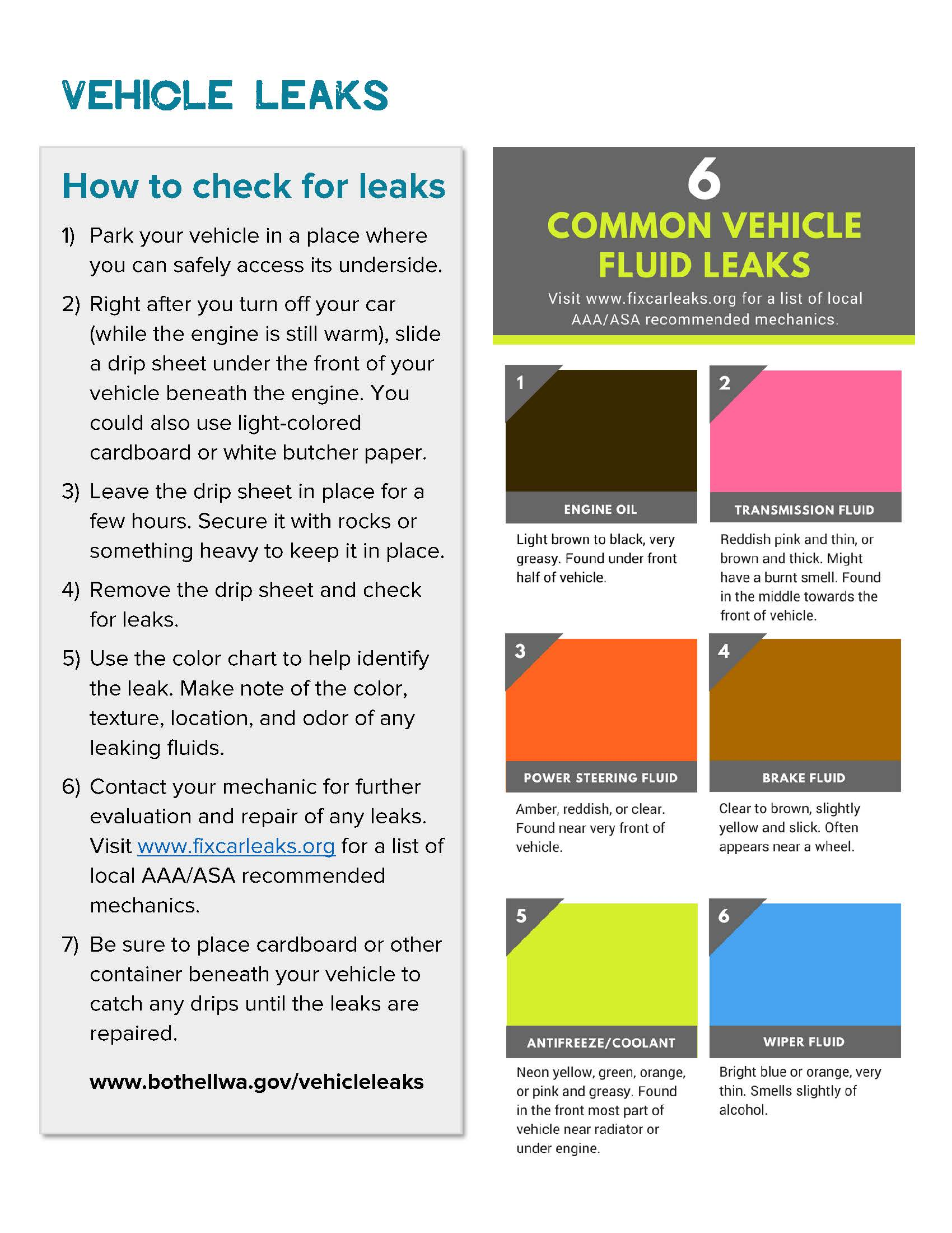 Vehicle Leak Identification