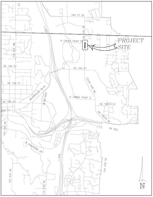120th Ave NE Pavement Repair Vicinity Map