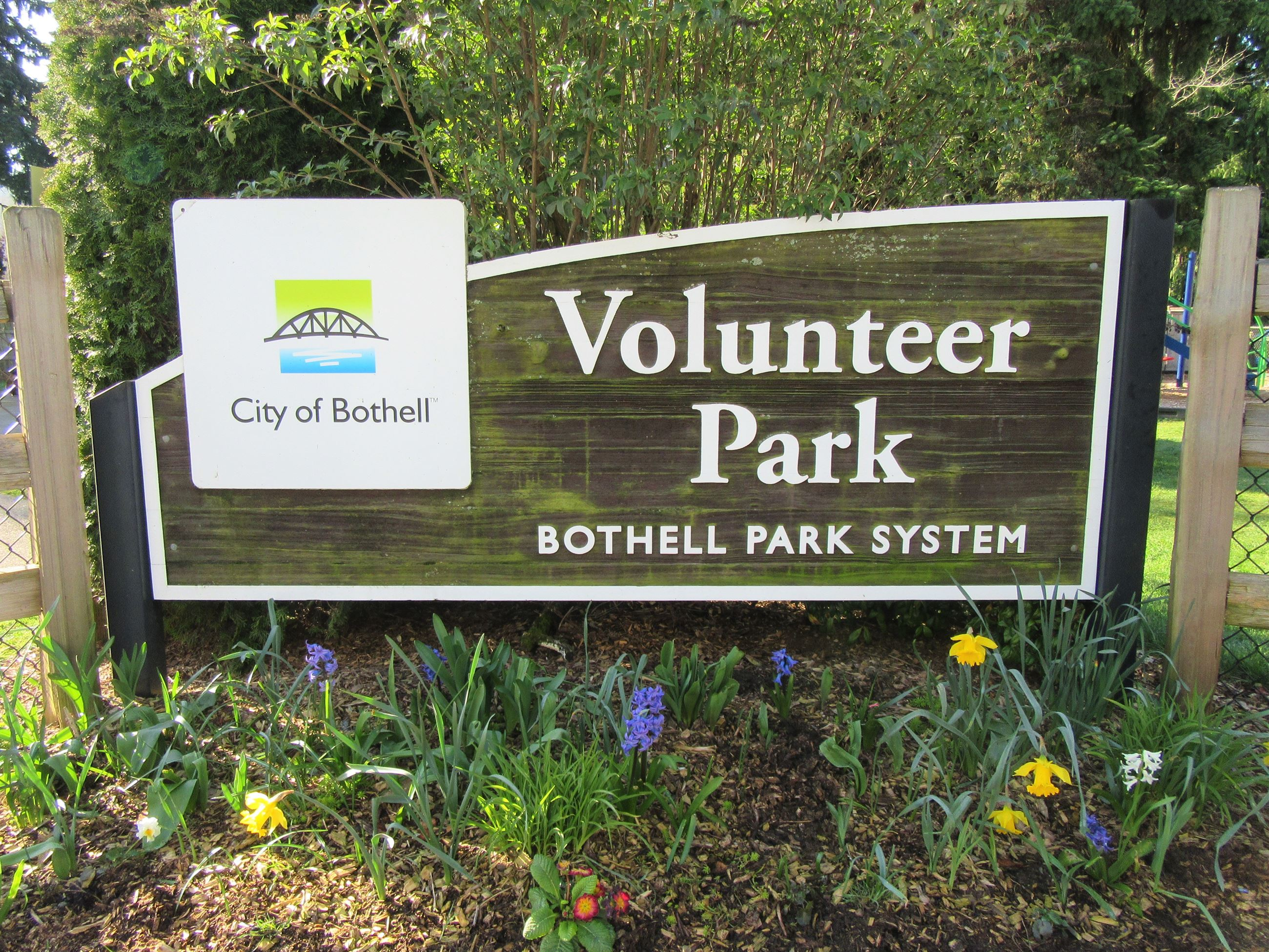 Volunteer Park sign