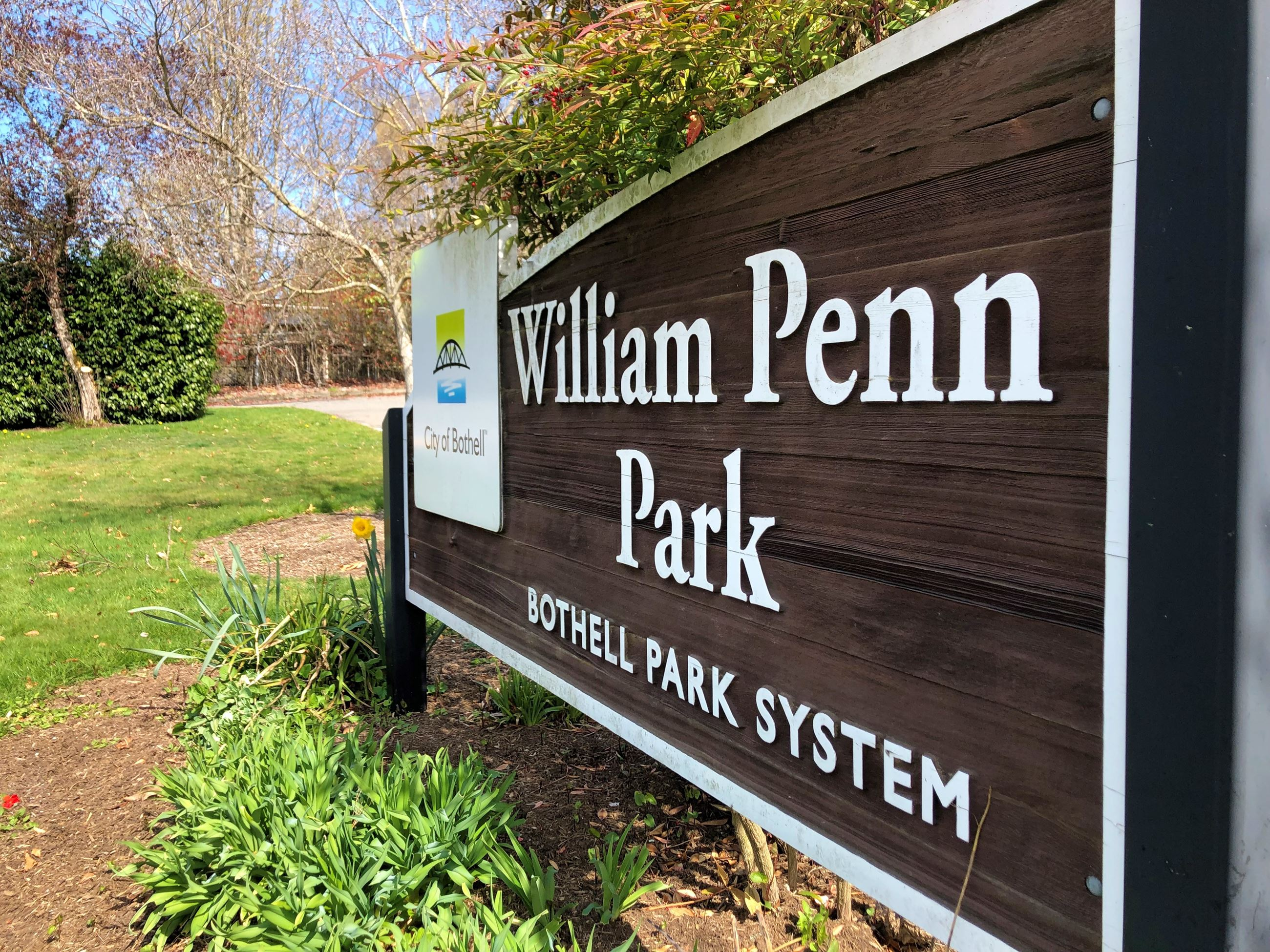 William Penn Park sign
