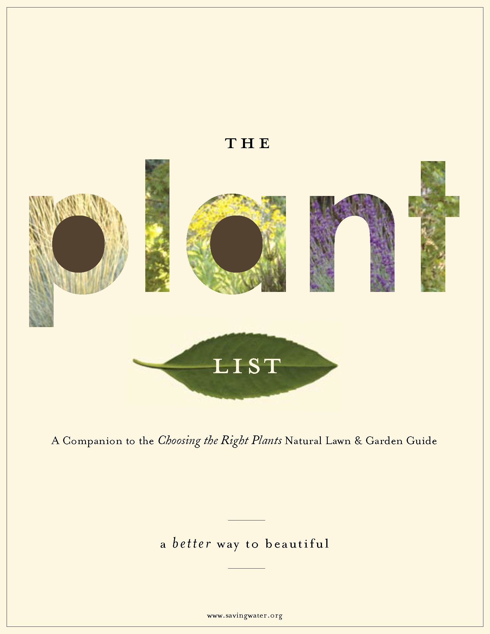COVER - The Plant List