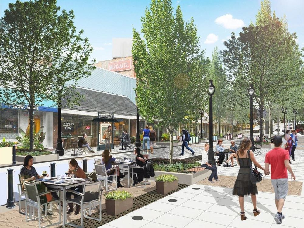 Envisioned future Main Street
