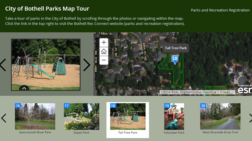 City of Bothell Parks Map Tour