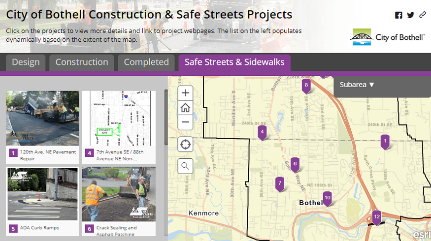 City of Bothell Capital Improvement & Safe Streets Projects