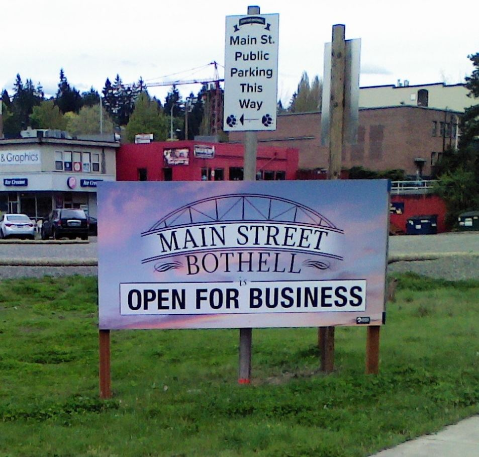 Main St Business open sign