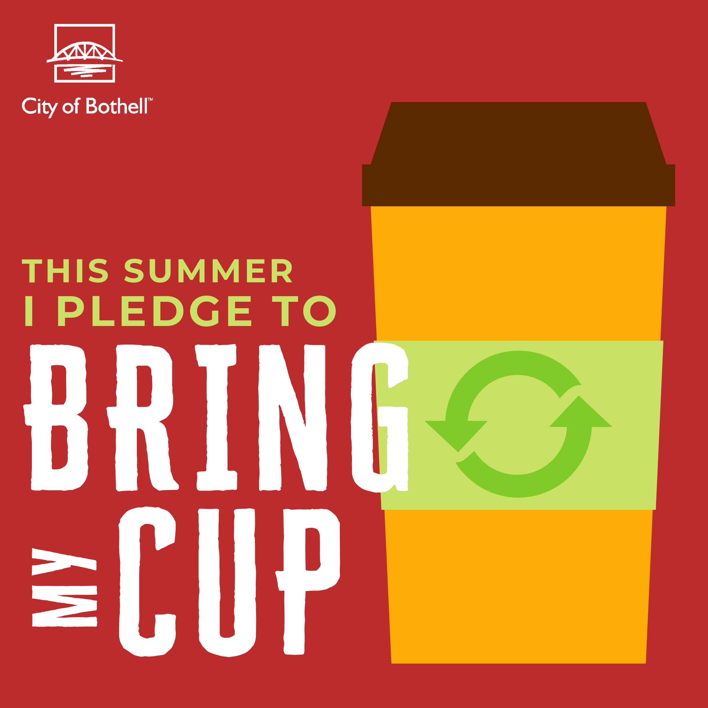 Green Summer Pledge - Bring your own cup