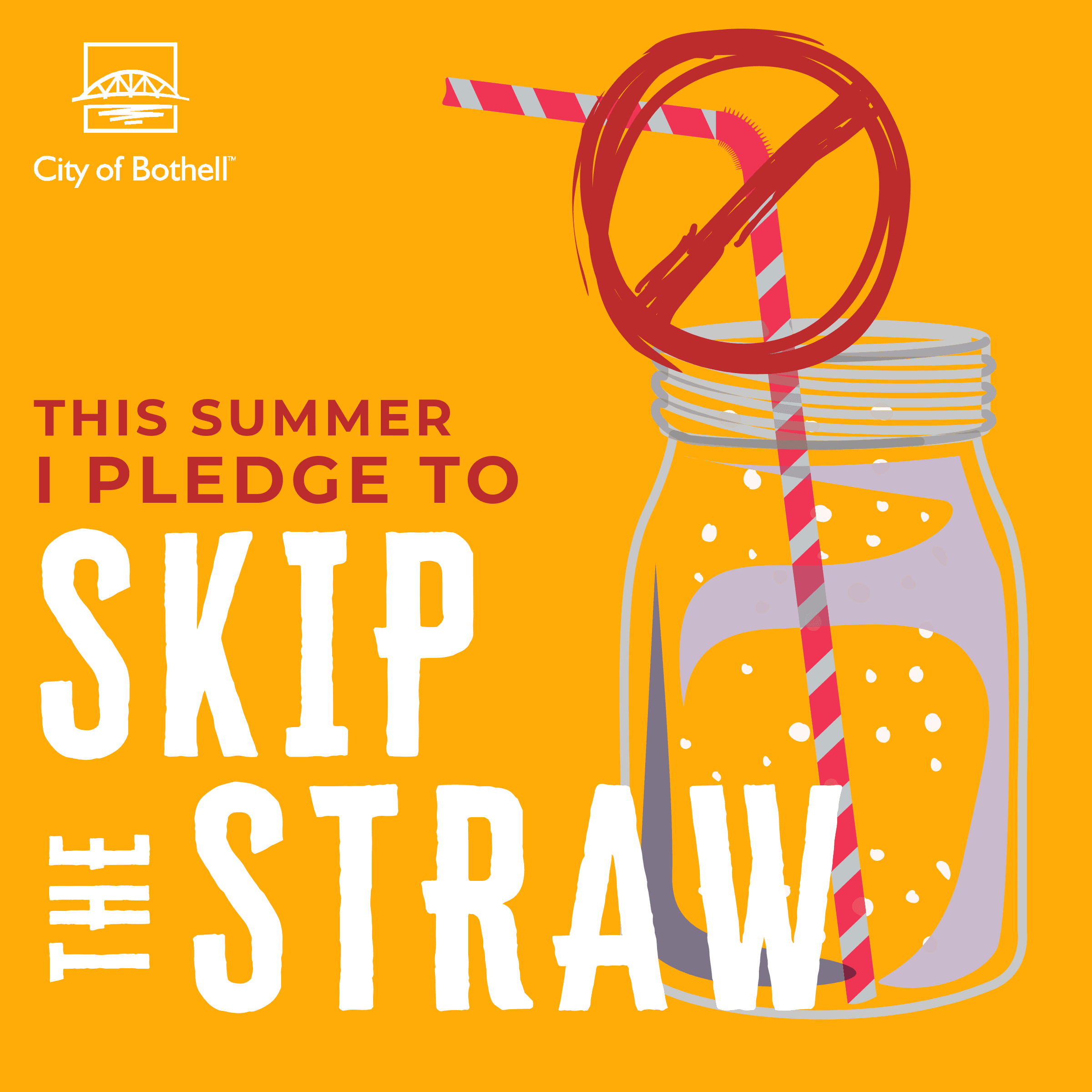 Green Summer Pledge - Skip the straw