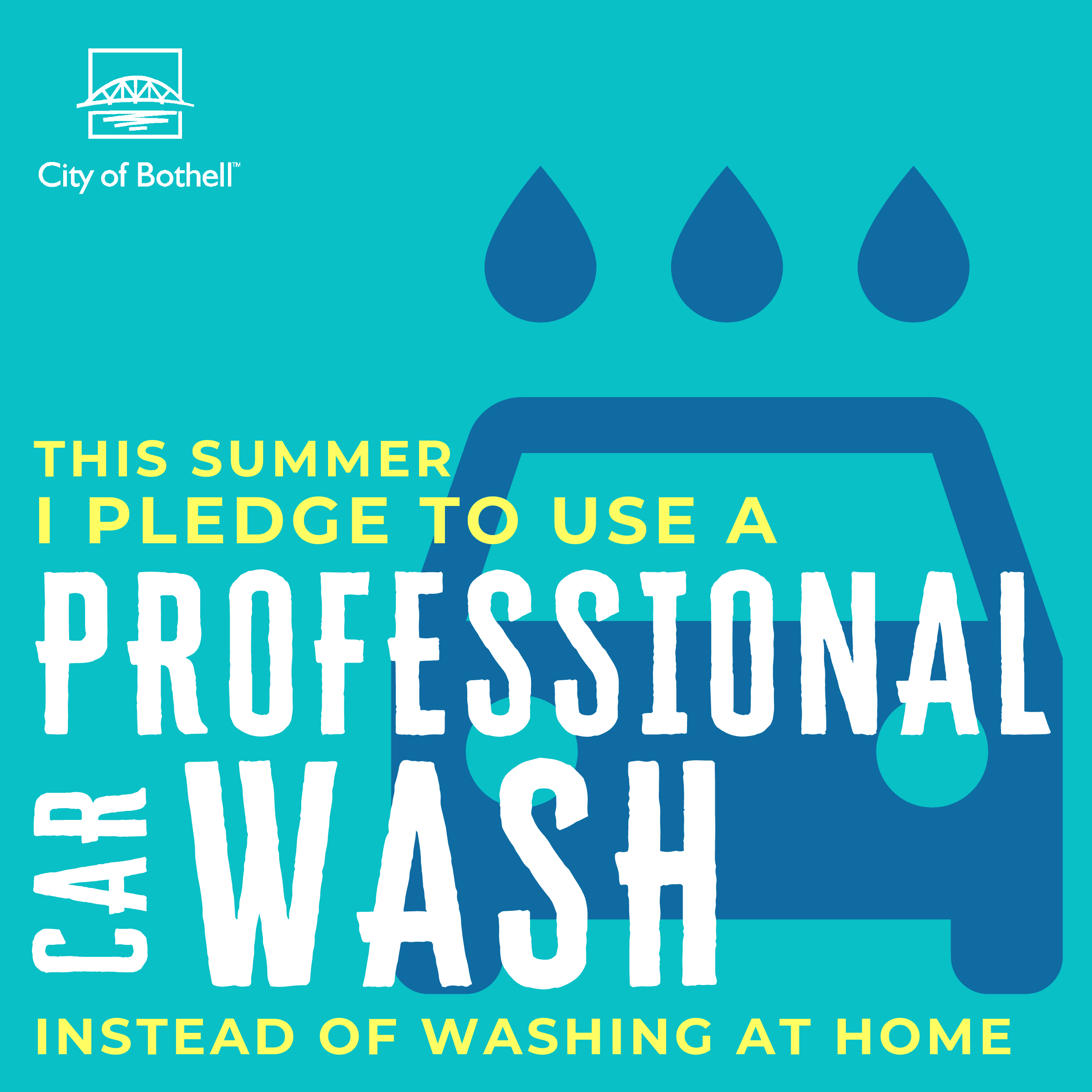 Green Summer Pledge - Use a car wash