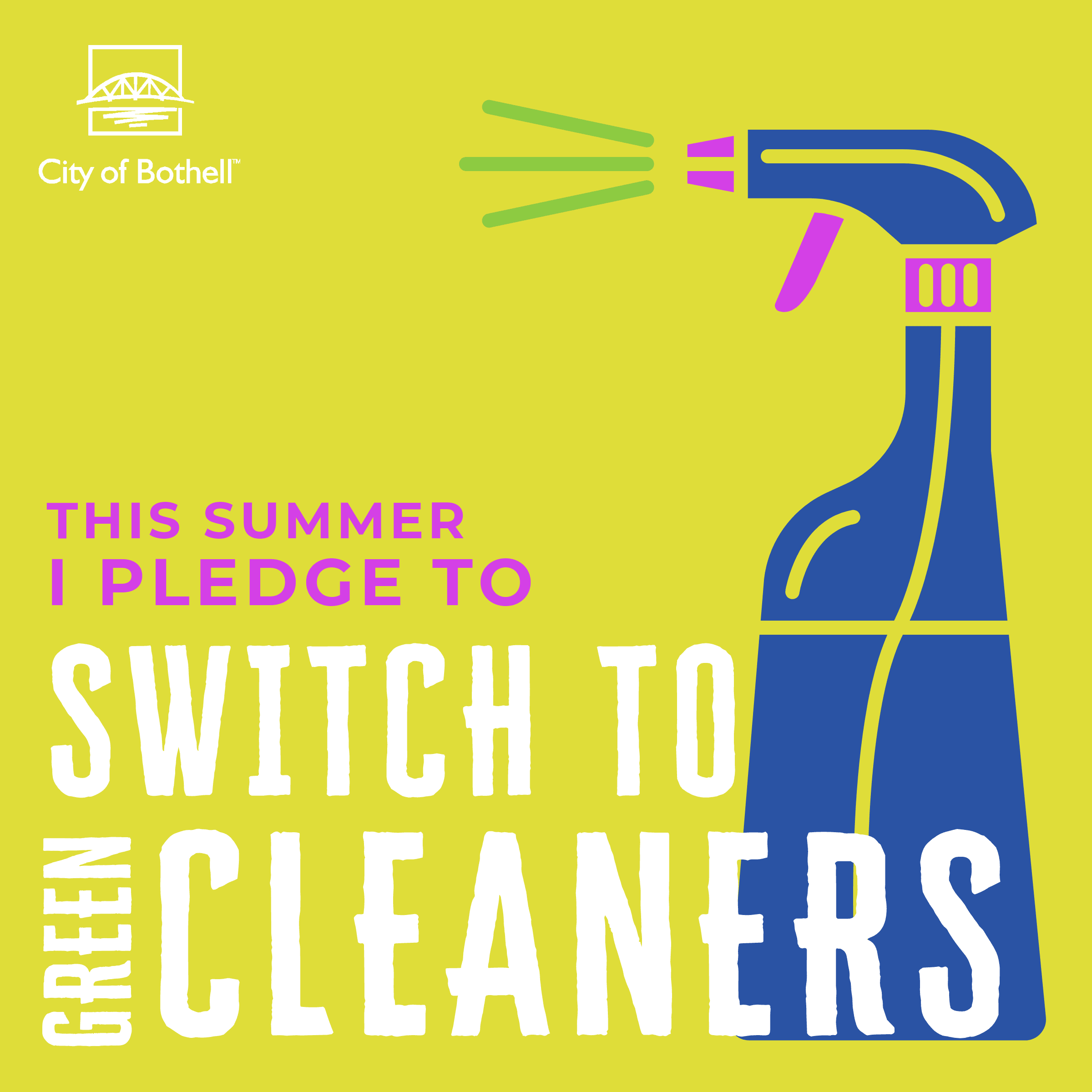 Green Summer Pledge - Green cleaners